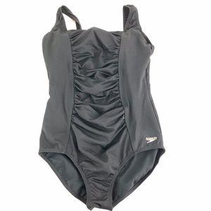 Speedo Endurance Shirred Tank Swim Suit Size 14
